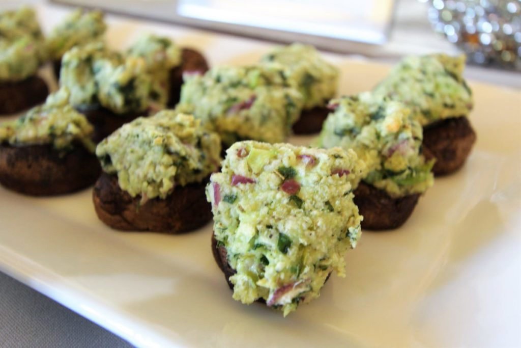 Stuffed Mushrooms – Wine & Cheese